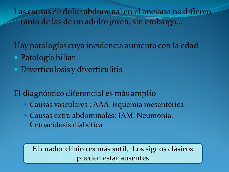 Hay patologías cuya incidencia aumenta con la edad Patología biliar