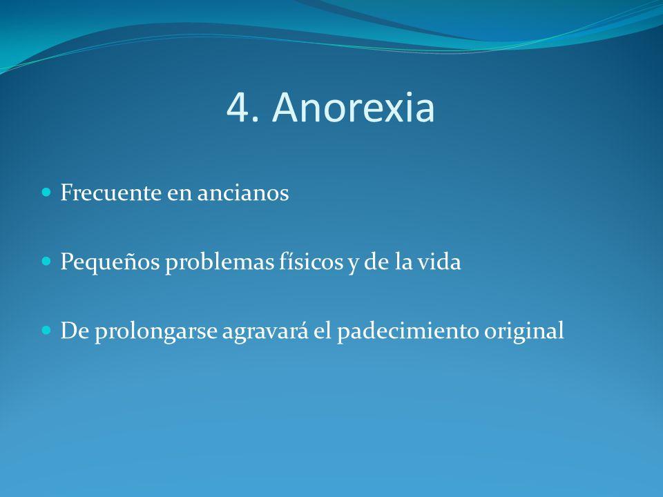 4. Anorexia Frecuente en ancianos
