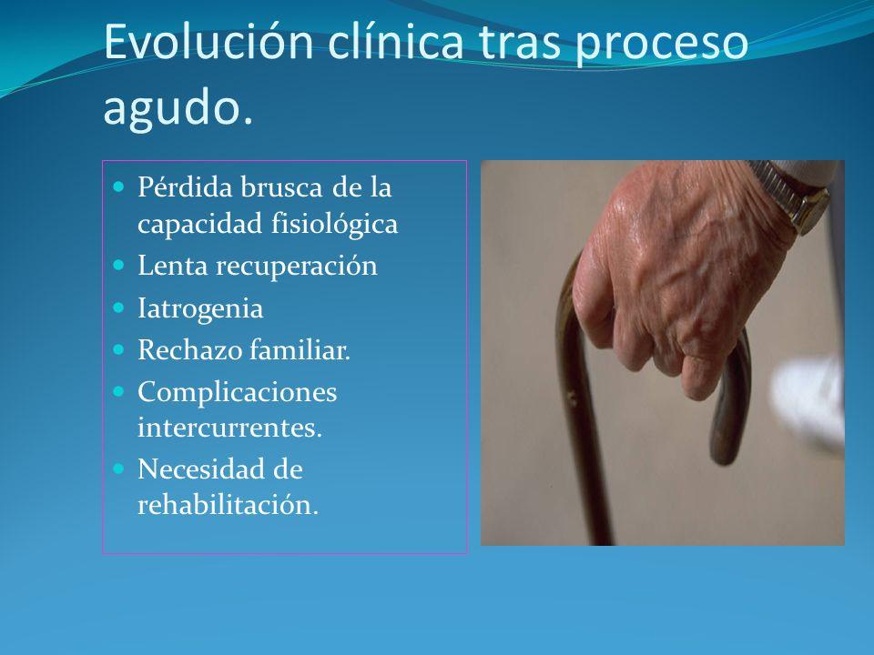 Evolución clínica tras proceso agudo.