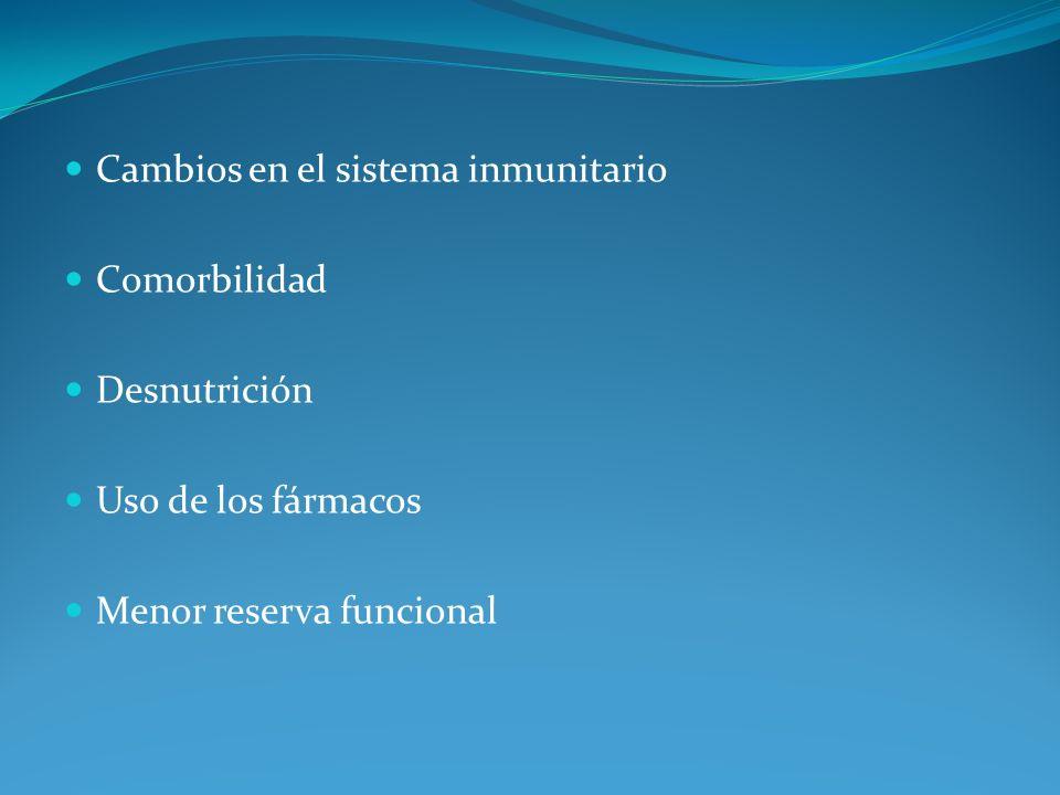 Cambios en el sistema inmunitario
