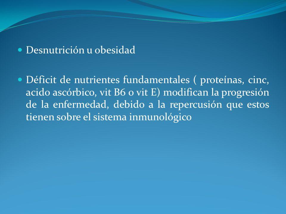 Desnutrición u obesidad
