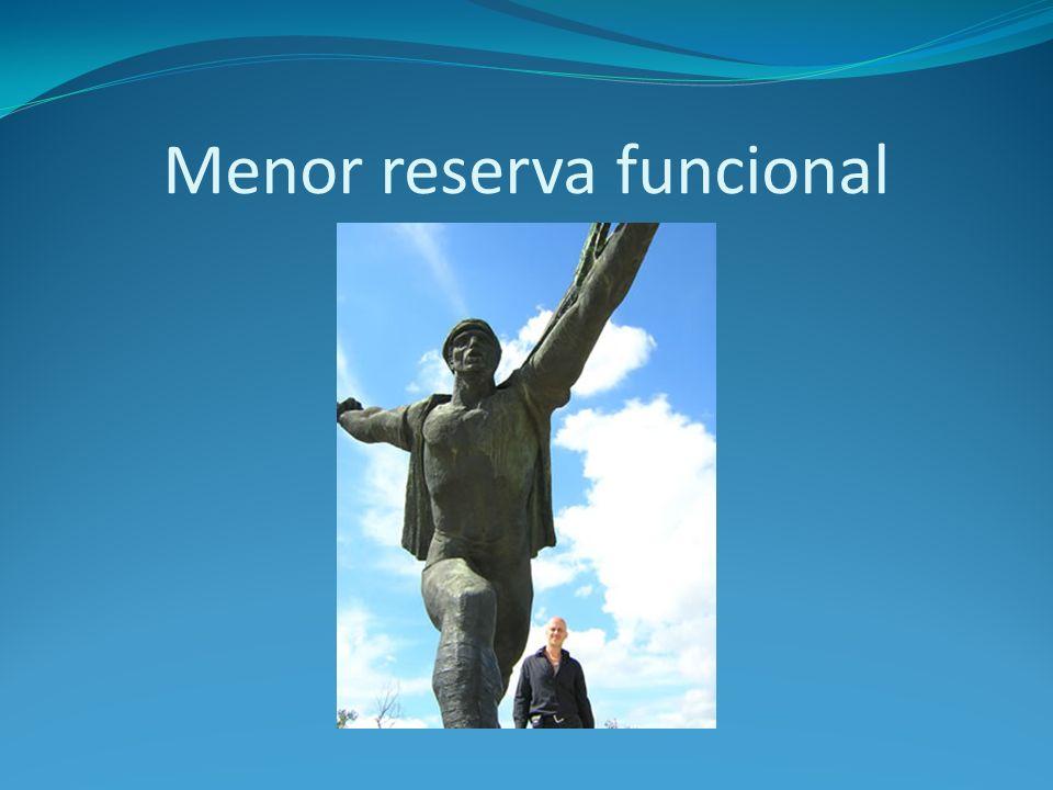 Menor reserva funcional