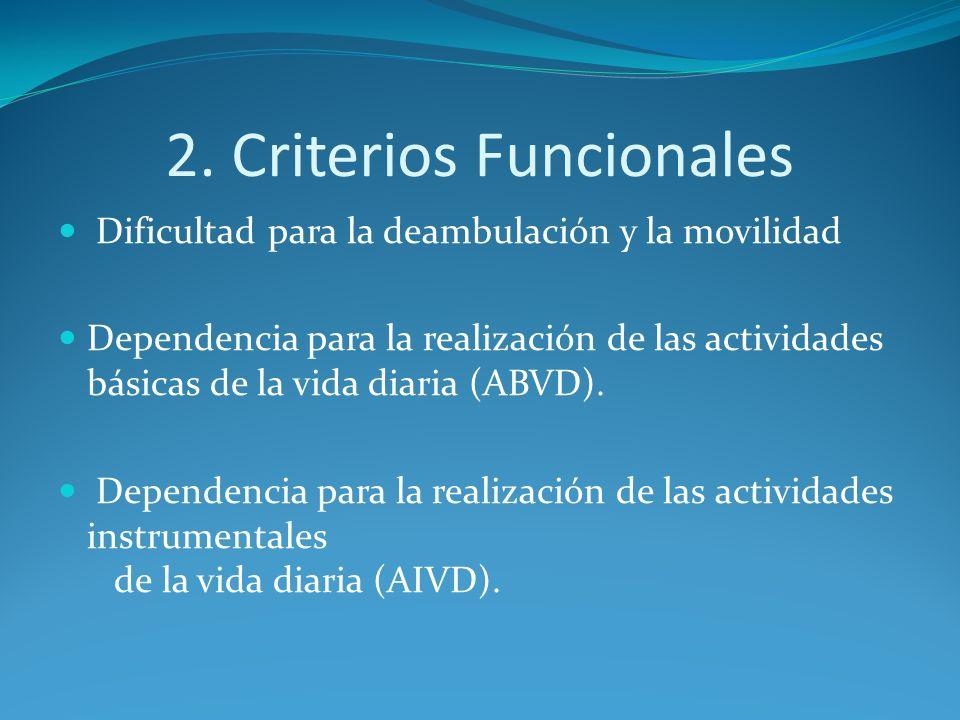 2. Criterios Funcionales