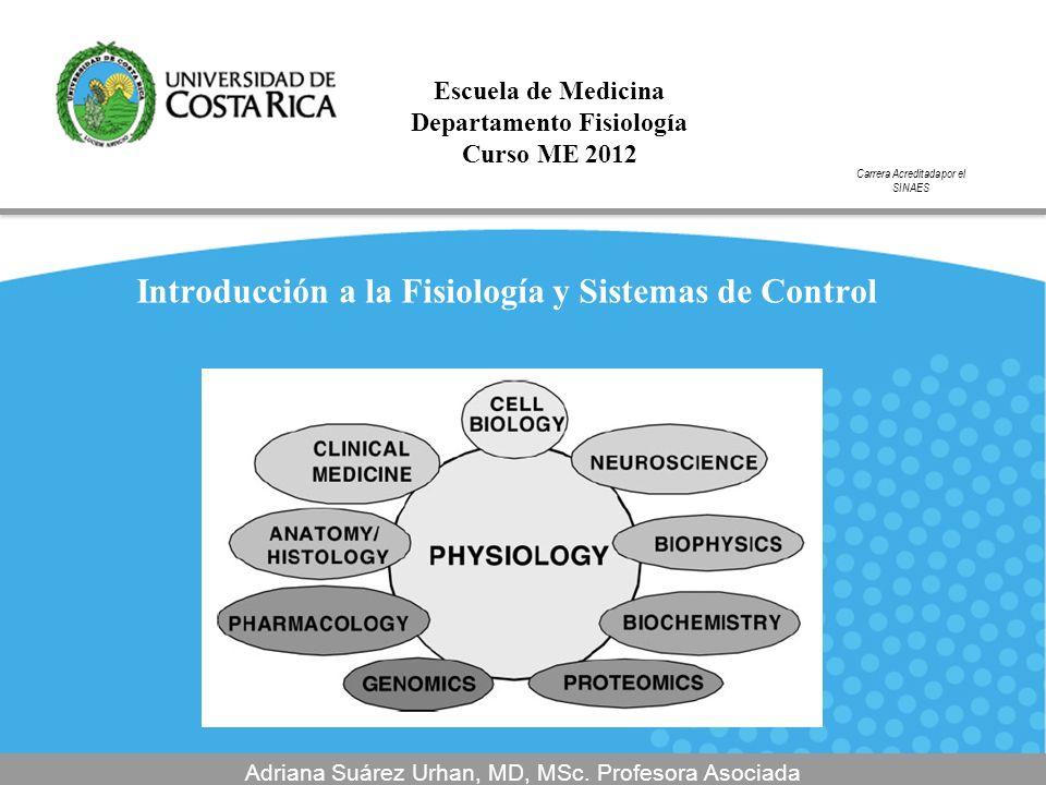 Introducción a la Fisiología y Sistemas de Control