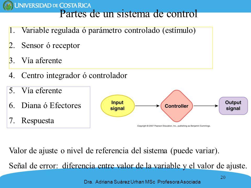 Partes de un sistema de control