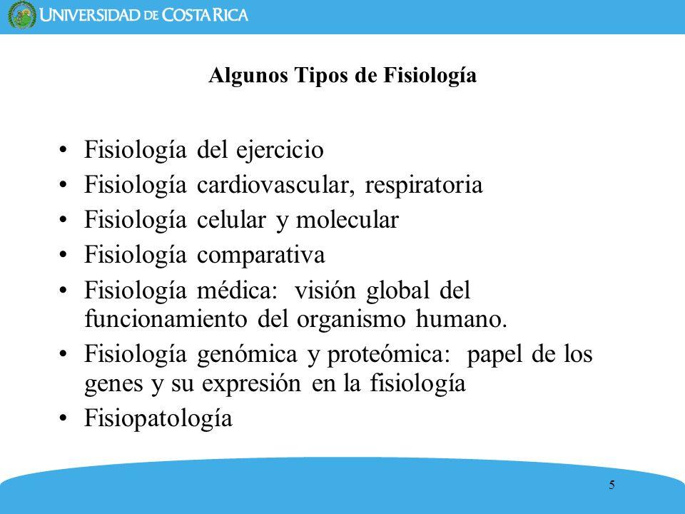 Algunos Tipos de Fisiología