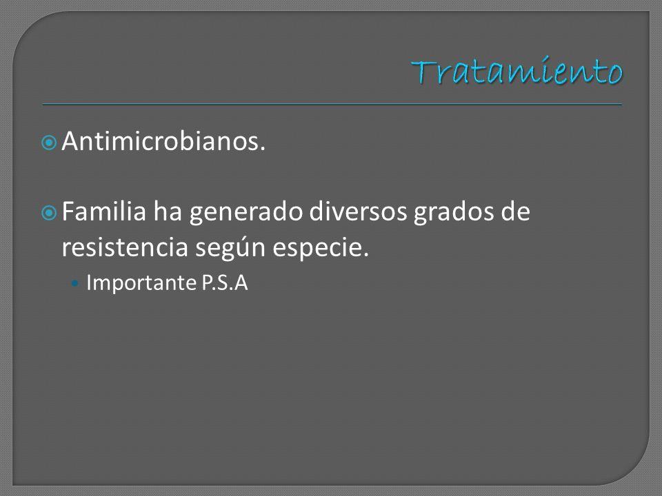 Tratamiento Antimicrobianos.