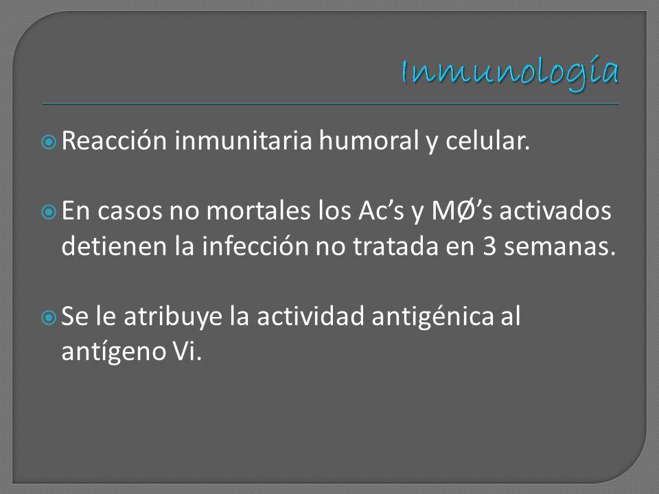 Inmunología Reacción inmunitaria humoral y celular.