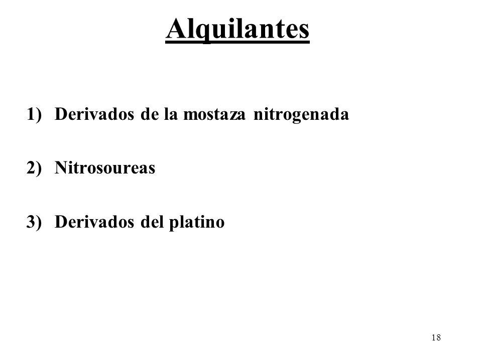 Alquilantes Derivados de la mostaza nitrogenada Nitrosoureas