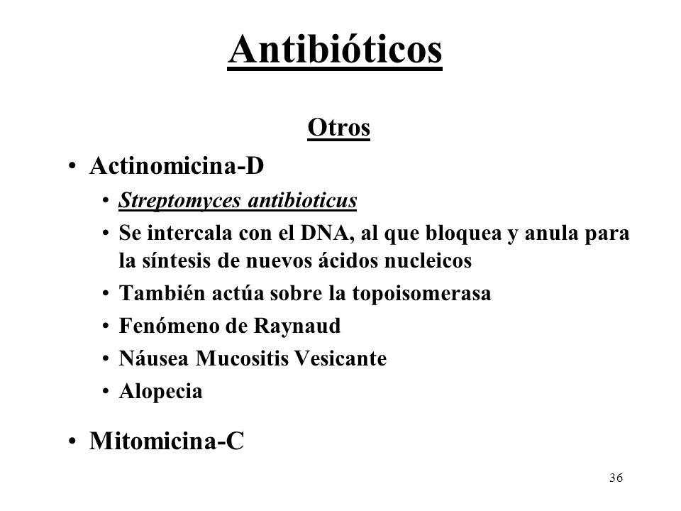 Antibióticos Otros Actinomicina-D Mitomicina-C