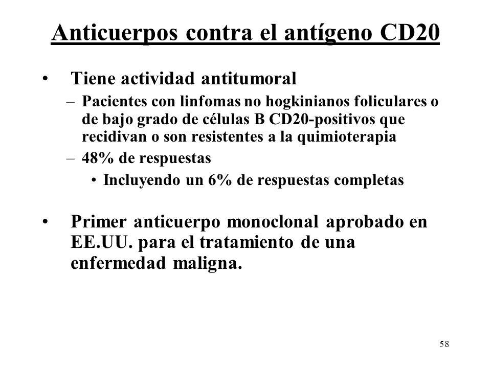 Anticuerpos contra el antígeno CD20