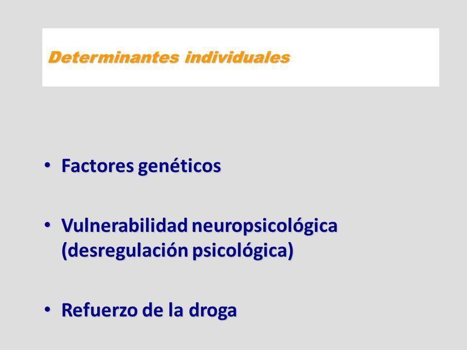 Vulnerabilidad neuropsicológica (desregulación psicológica)