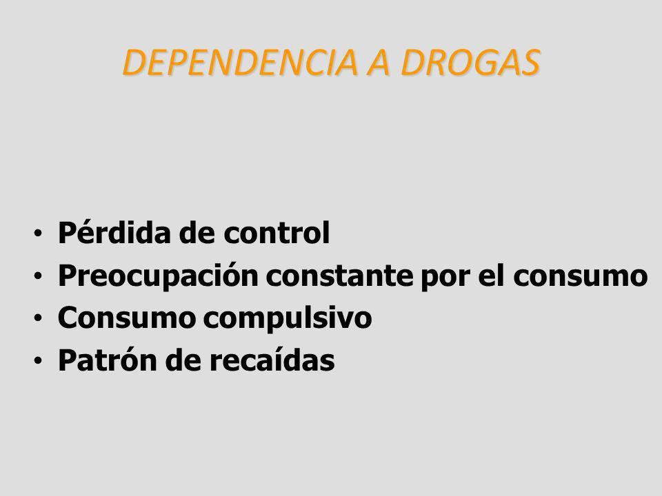 DEPENDENCIA A DROGAS Pérdida de control
