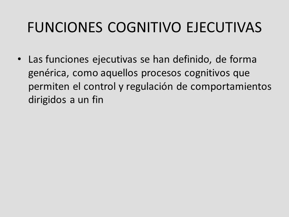 FUNCIONES COGNITIVO EJECUTIVAS