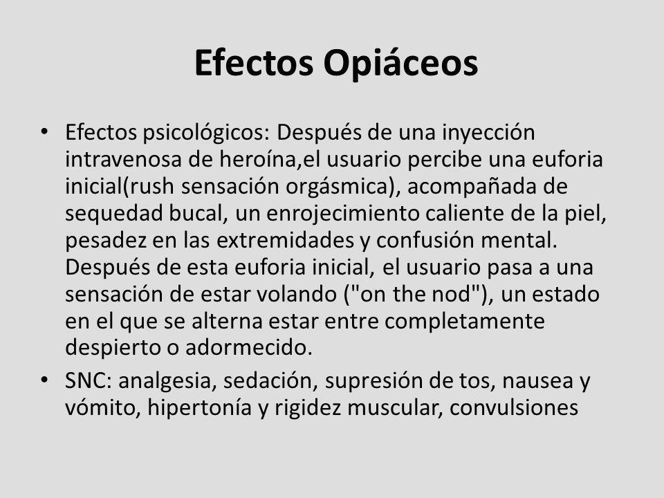 Efectos Opiáceos