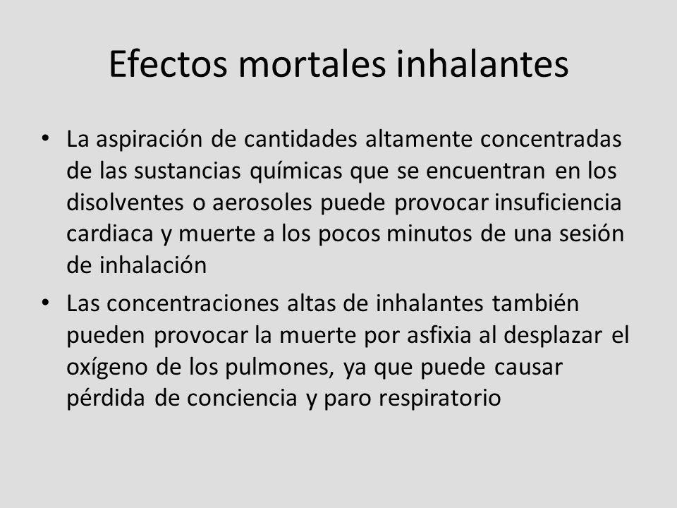 Efectos mortales inhalantes