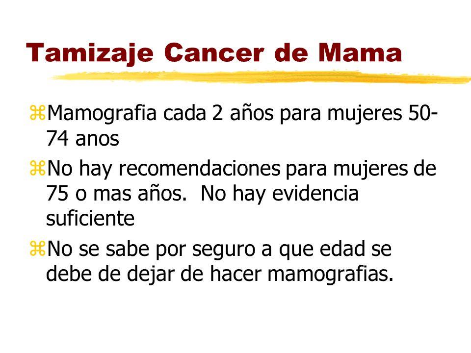 Tamizaje Cancer de Mama