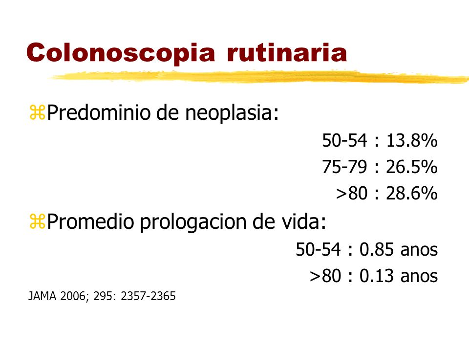 Colonoscopia rutinaria