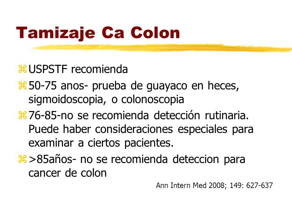 Tamizaje Ca Colon USPSTF recomienda