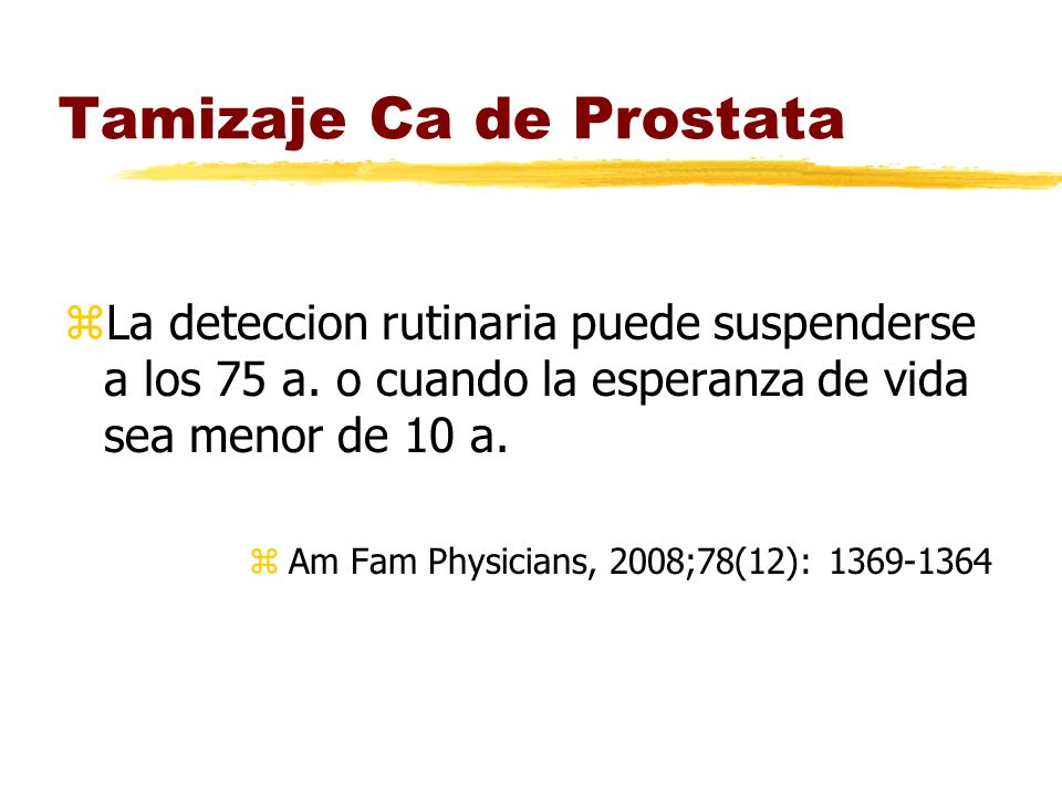 Tamizaje Ca de Prostata