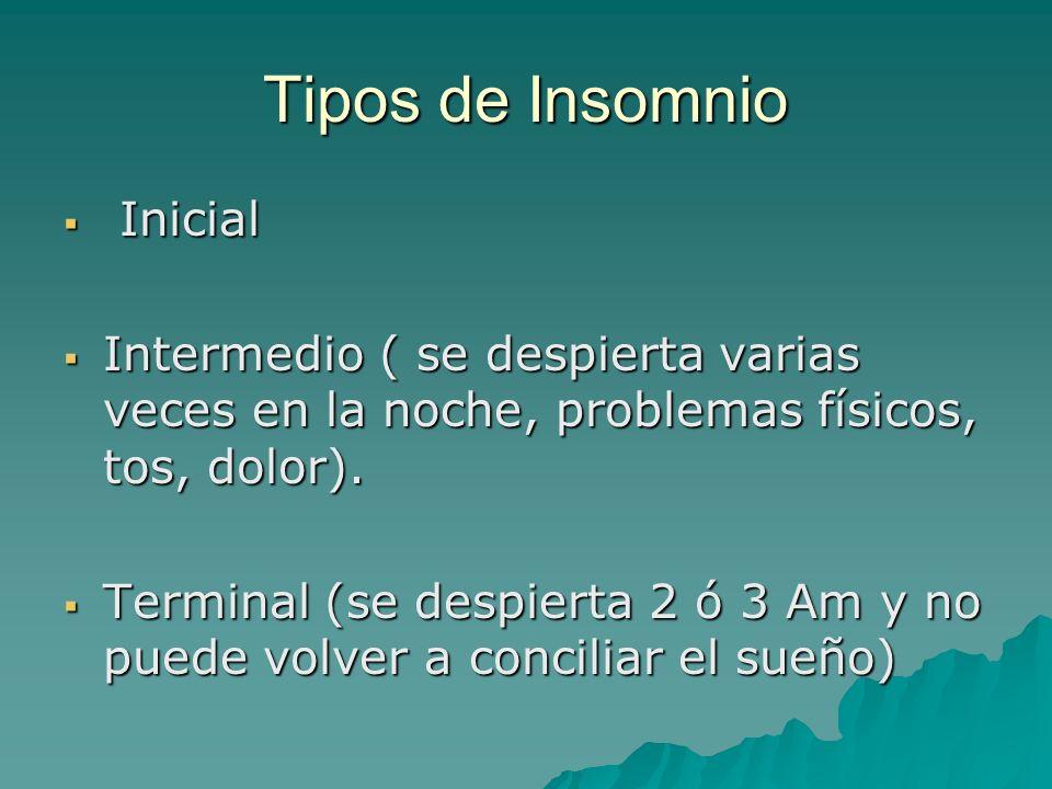 Tipos de Insomnio Inicial