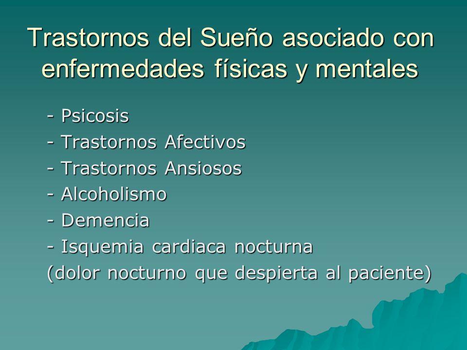 Trastornos del Sueño asociado con enfermedades físicas y mentales