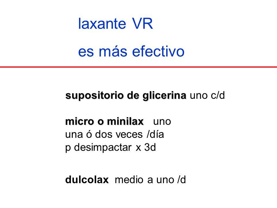 laxante VR es más efectivo supositorio de glicerina uno c/d