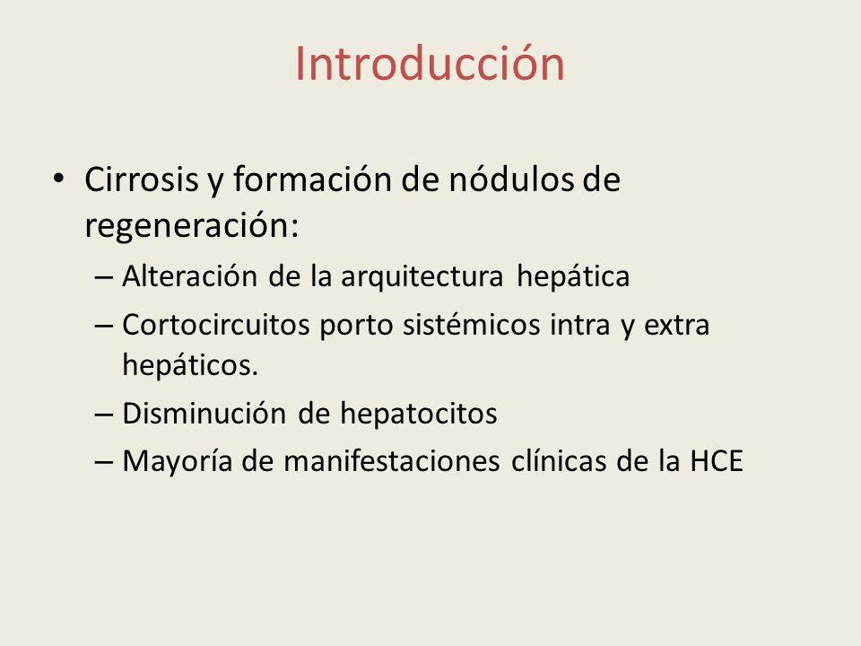 Introducción Cirrosis y formación de nódulos de regeneración: