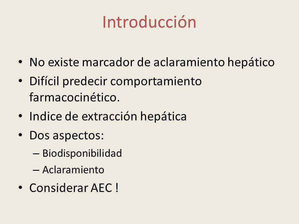 Introducción No existe marcador de aclaramiento hepático