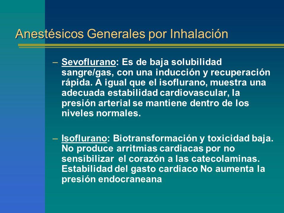 Anestésicos Generales por Inhalación