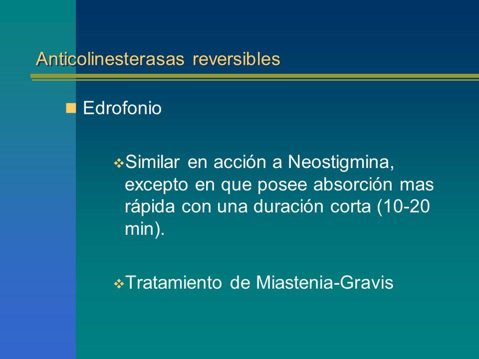 Anticolinesterasas reversibles