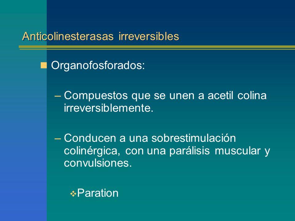 Anticolinesterasas irreversibles