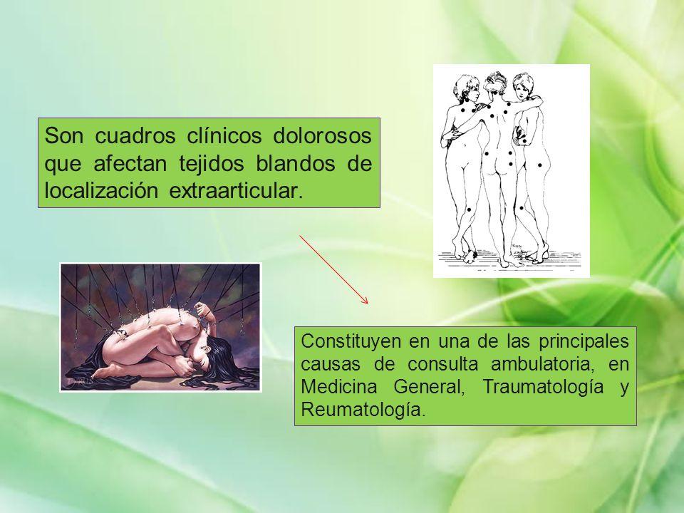 Son cuadros clínicos dolorosos que afectan tejidos blandos de localización extraarticular.