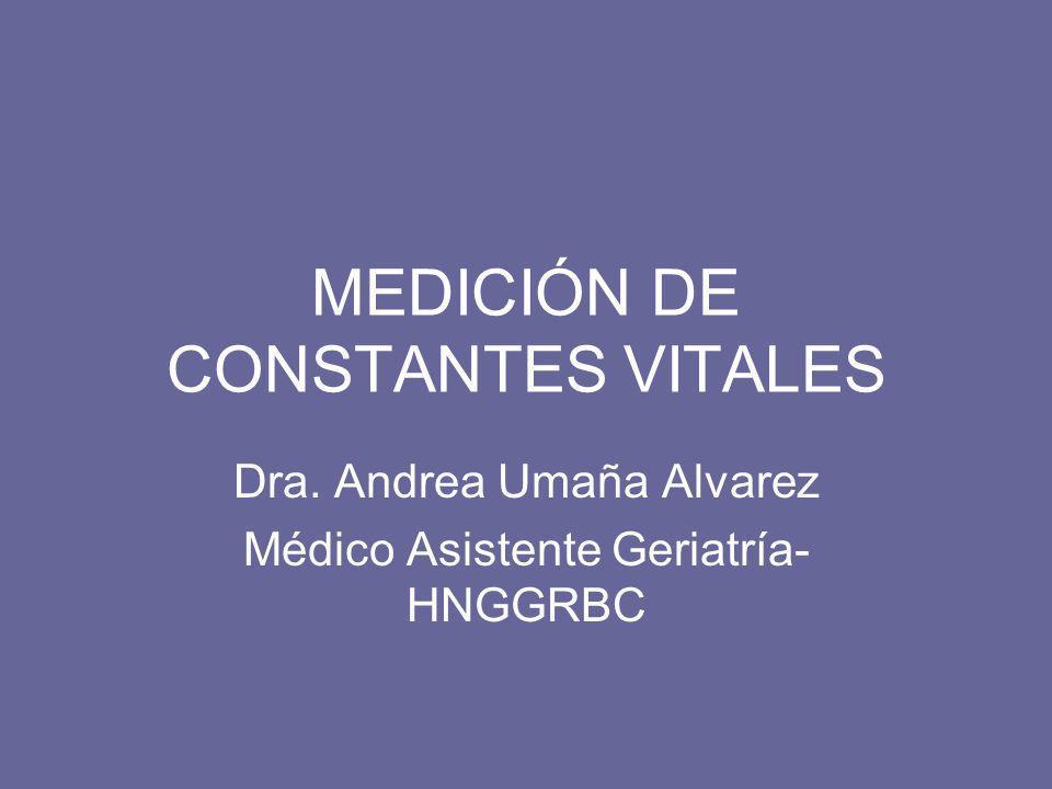 MEDICIÓN DE CONSTANTES VITALES