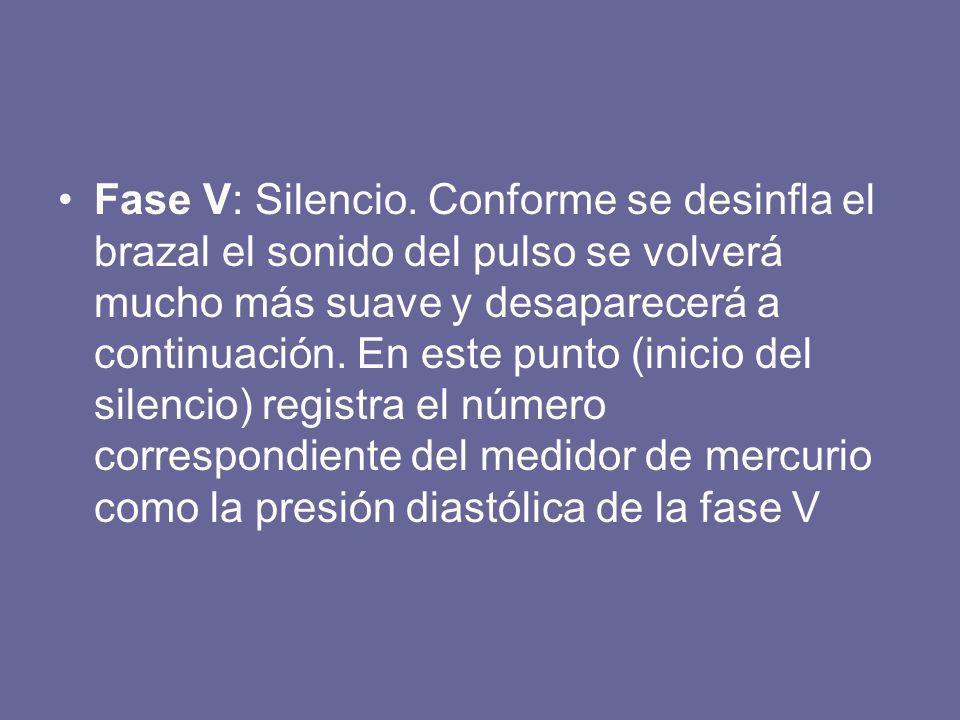 Fase V: Silencio.
