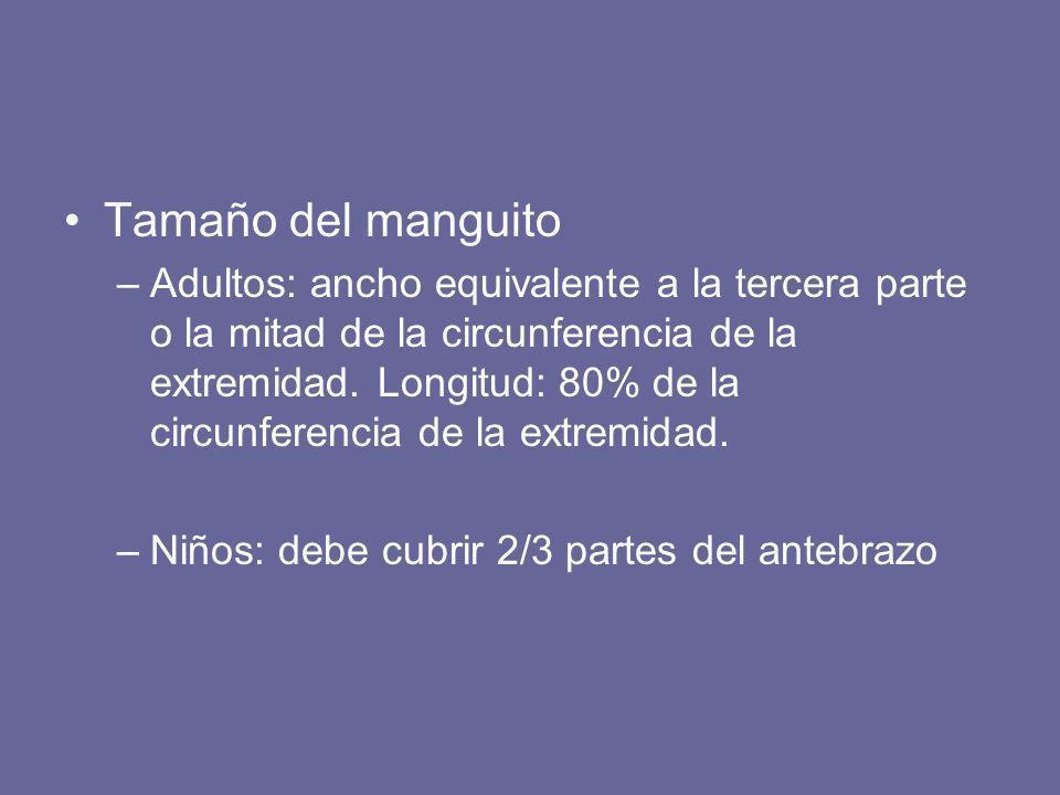 Tamaño del manguito