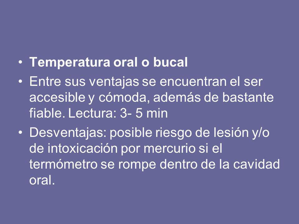 Temperatura oral o bucal