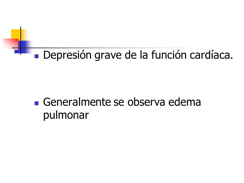 Depresión grave de la función cardíaca.