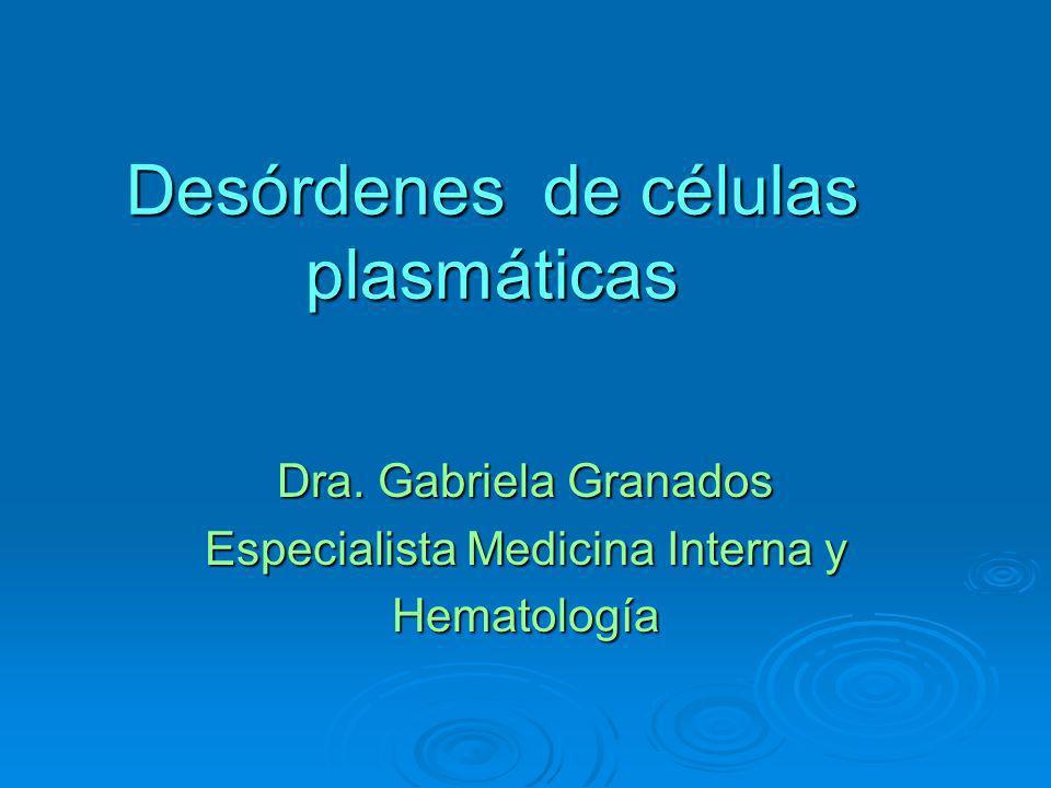 Desórdenes de células plasmáticas