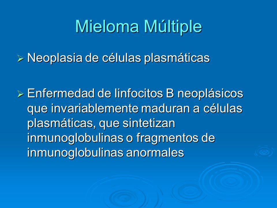 Mieloma Múltiple Neoplasia de células plasmáticas