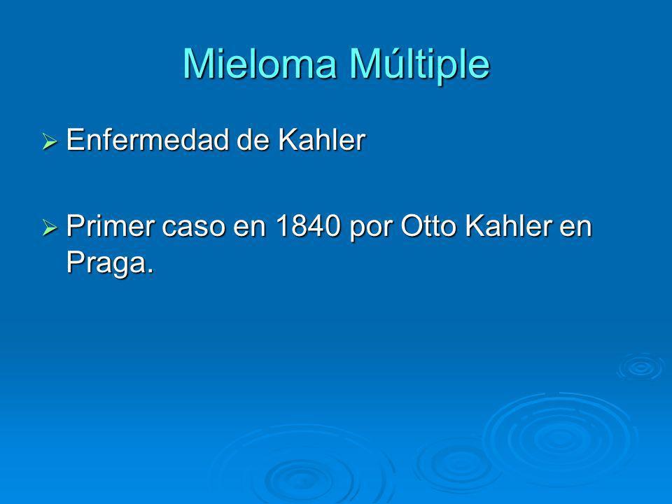 Mieloma Múltiple Enfermedad de Kahler