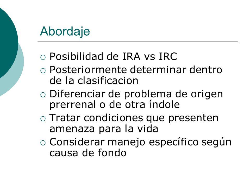 Abordaje Posibilidad de IRA vs IRC