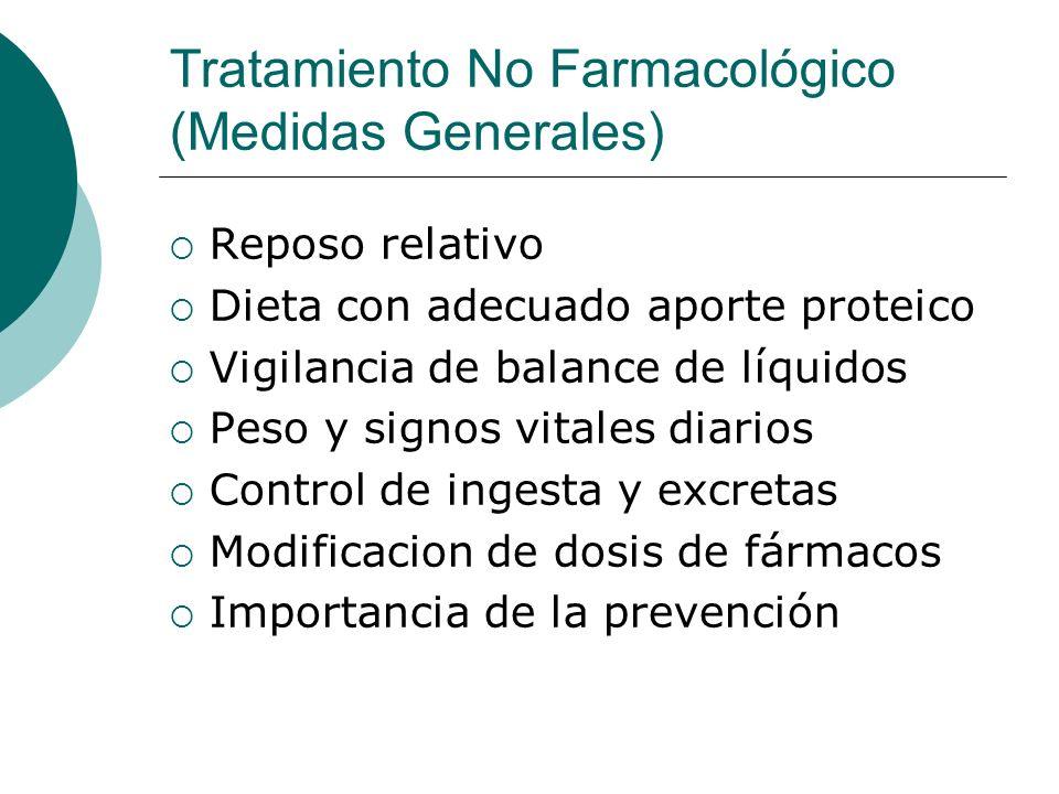 Tratamiento No Farmacológico (Medidas Generales)