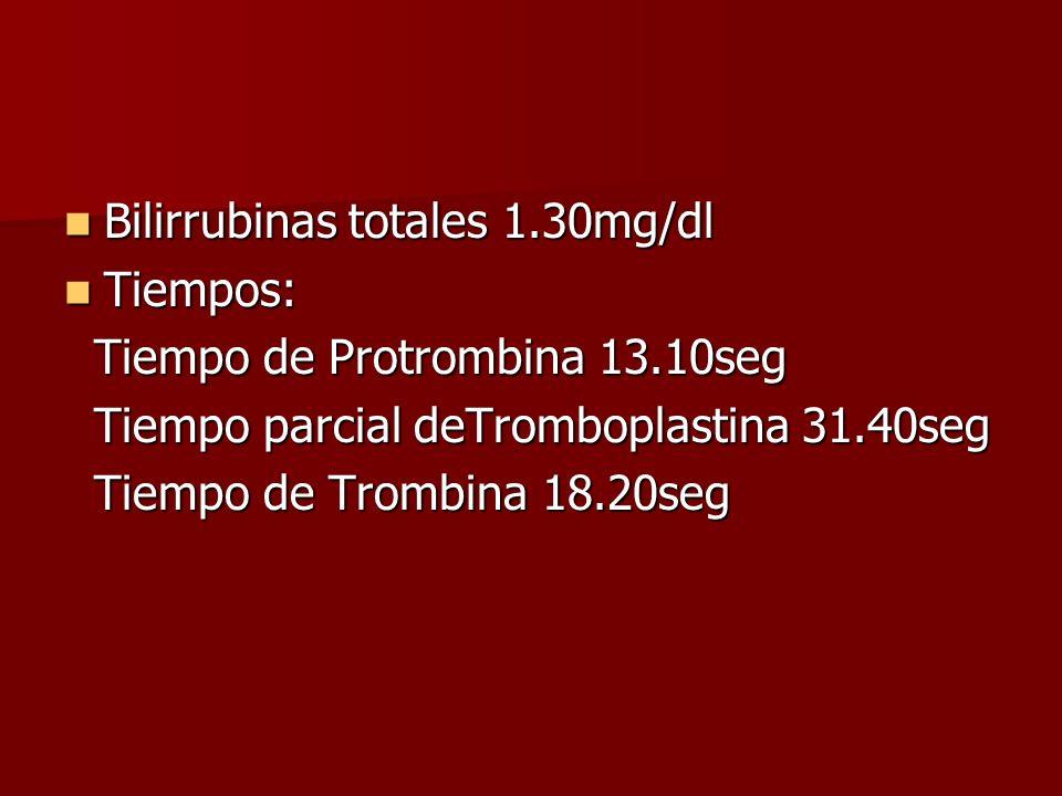 Bilirrubinas totales 1.30mg/dl