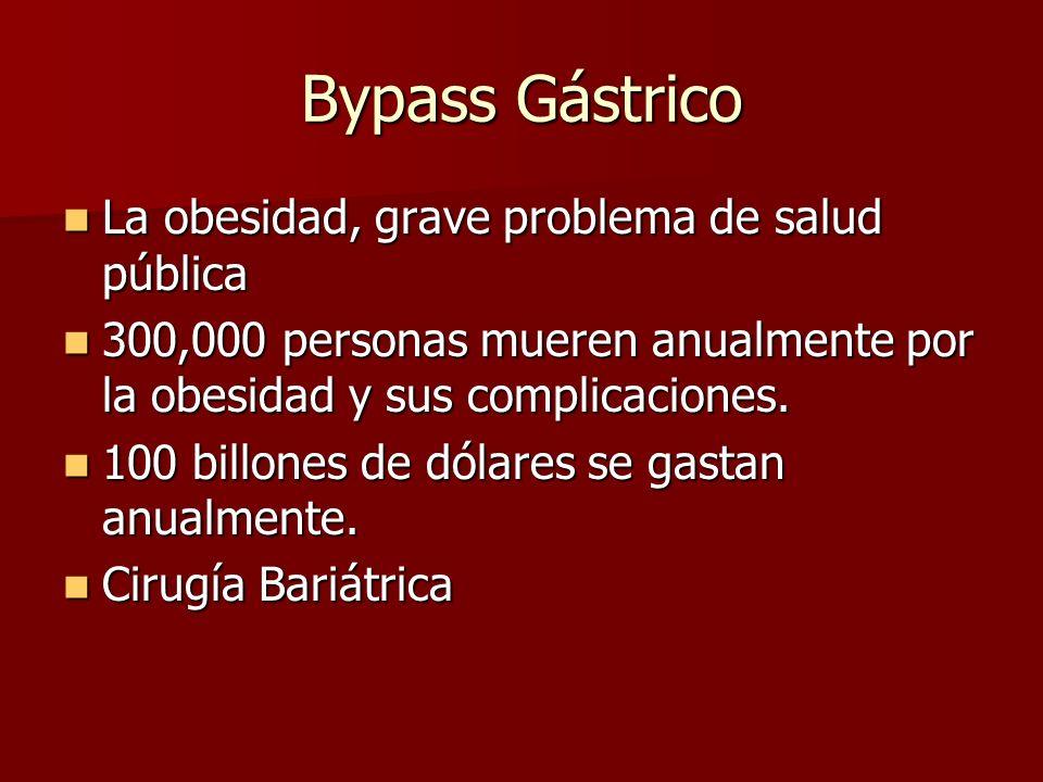 Bypass Gástrico La obesidad, grave problema de salud pública