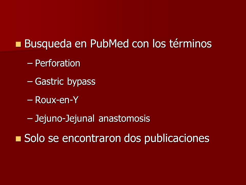 Busqueda en PubMed con los términos