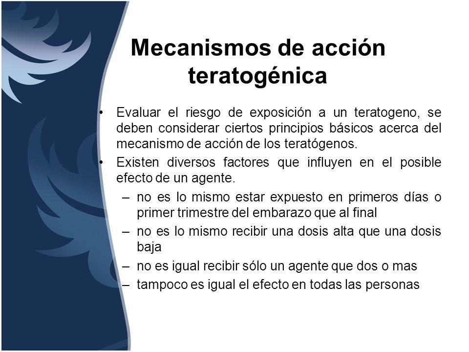 Mecanismos de acción teratogénica