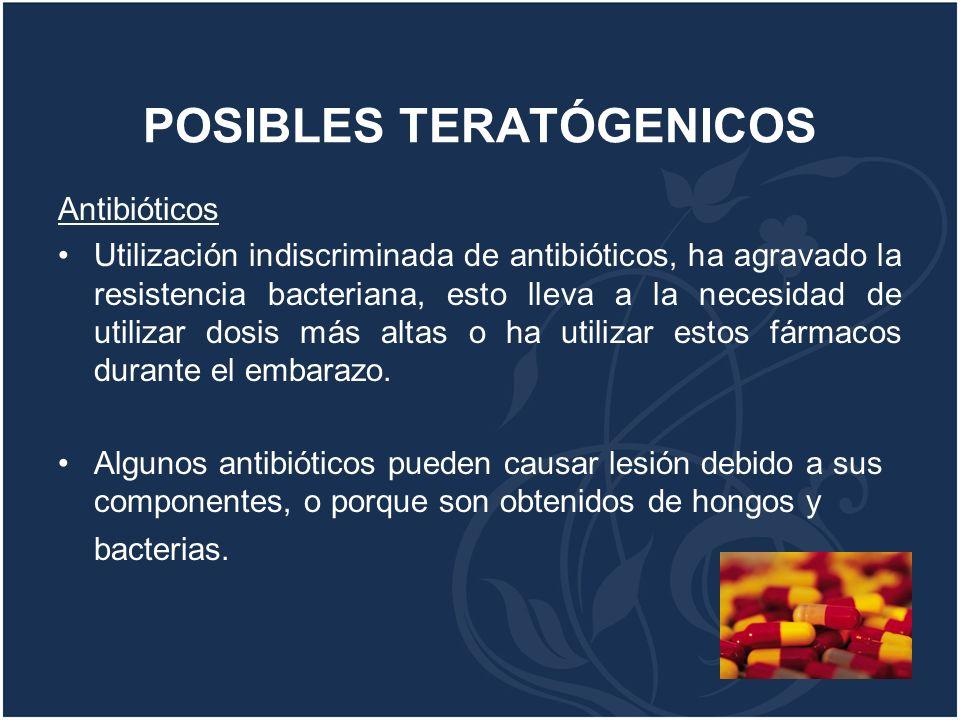 POSIBLES TERATÓGENICOS
