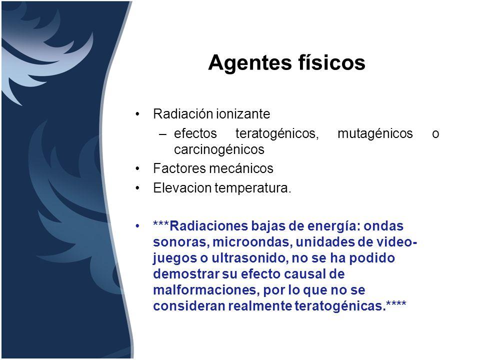Agentes físicos Radiación ionizante