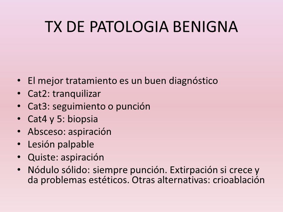 TX DE PATOLOGIA BENIGNA